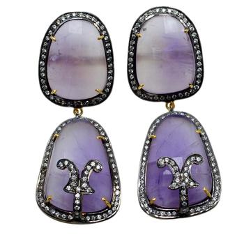 Multicolor Amethyst   Earrings