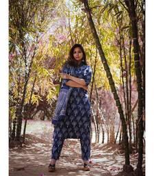 Bagru Print Indigo Suit Set