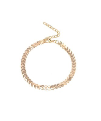 Ferosh Fishbone Chain Anklet