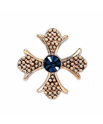 Ferosh Sapphire Cross Brooch