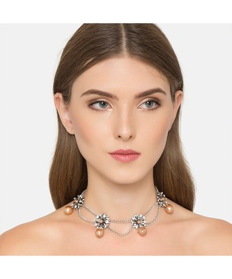 Ferosh Dropping Pearls Choker