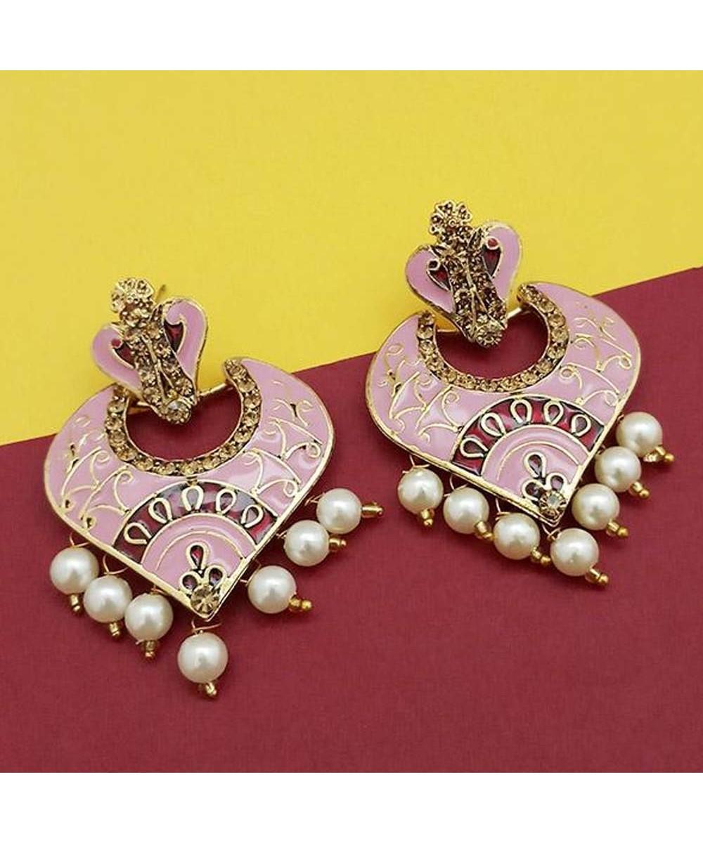 7f78c6514 Pink Earrings - Buy Pink Pearl Earring Online in USA   UK