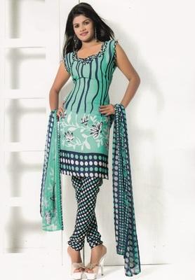 Crepe Dress Material Elegant Designer Unstitched Salwar Suit D.No 7284