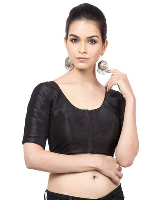 Black Mulberry Readymade Blouse for Women