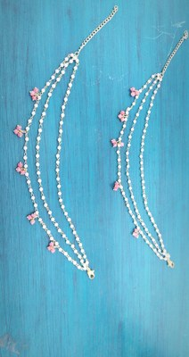 Rose Pink Stones Beaded Anklets