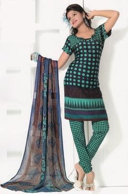 Crepe Dress Material Elegant Designer Unstitched Salwar Suit D.No 7291