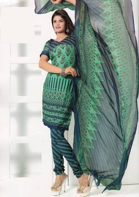 Crepe Dress Material Elegant Designer Unstitched Salwar Suit D.No 7293