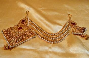 Gold agate hair-accessories