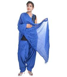 Blue Cotton Patiala Salwar with Dupatta