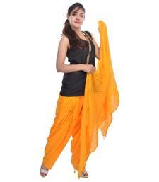 Yellow cotton indian readymade salwar kameez with dupatta