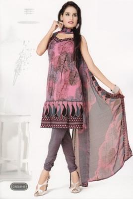 Crepe Dress Material Elegant Designer Unstitched Salwar Suit D.No 8146