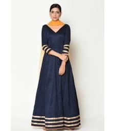Blue Stripe Border Dress-Suit
