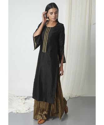 Black Stripe Skirt-Kurta