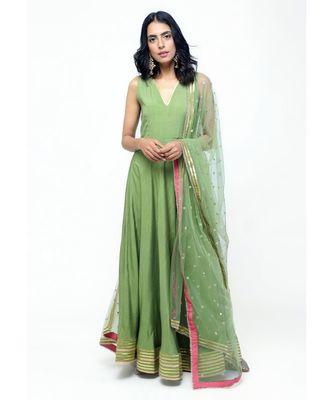 Green Gota Dress Set