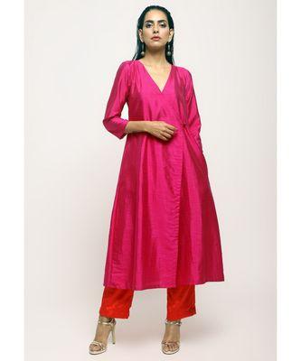Pink Angrakha Set