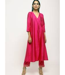 Pink Angrakha Foil Pant