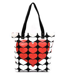 Buy 3D RED HEART CANVAS tote-bag online