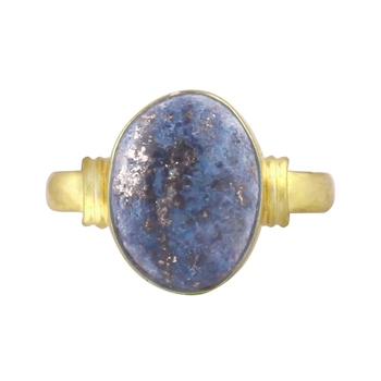 Multicolor lapis lazuli rings