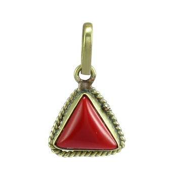 Red coral pendants