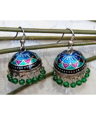 Colorful Meenakari Jhumka Earrings