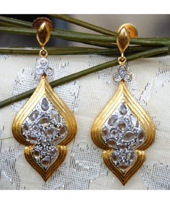 Uncut Diamond Dangler Earrings