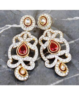 Diamond Ruby Dangler Earrings