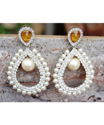 Pearly Brillance Dangler Earrings
