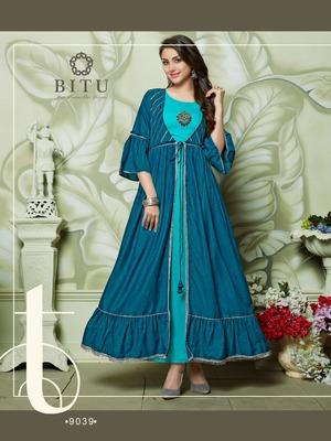 Multicolor hand woven cotton kurtas-and-kurtis