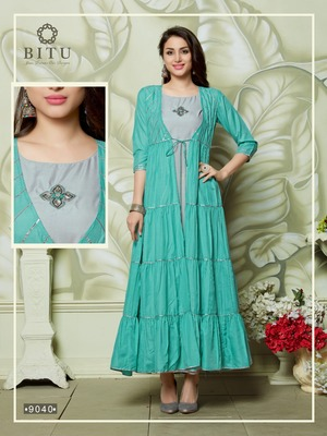 Multicolor hand woven cotton kurtas-and-kurtis