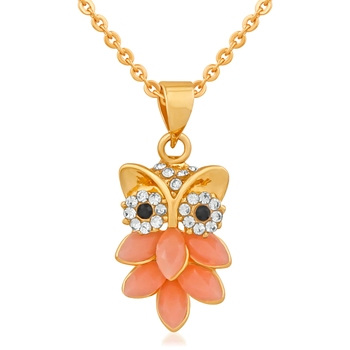 Orange crystal pendants