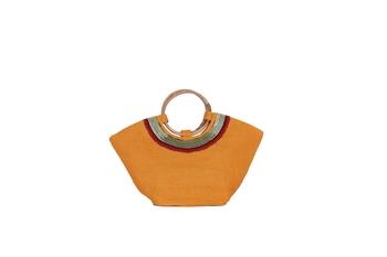 Yellow Jute tote-bags