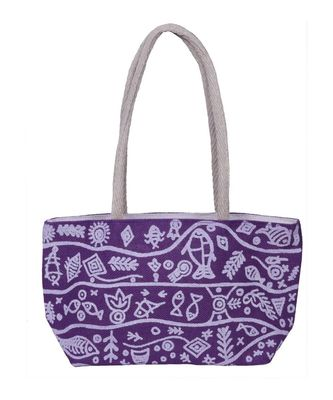 Purple Jute handbags