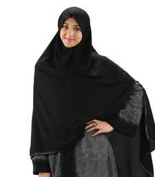Parvin Saudi Long one Side Slit open Hijab