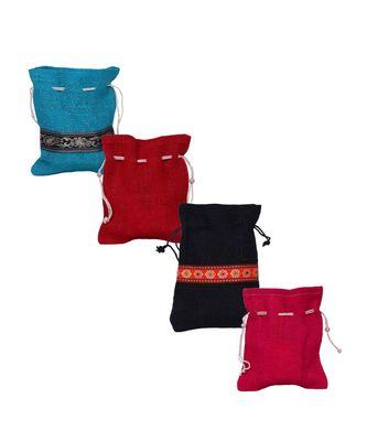 multicolor Jute potli-bags