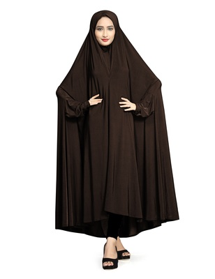 Coffee plain lycra burka