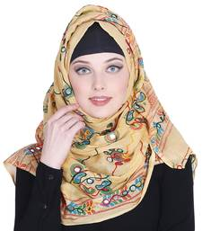 Multicolor embroidered cotton hijab