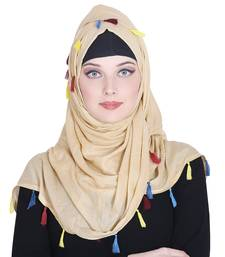 Gold plain rayon hijab