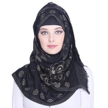 Multicolor printed viscose hijab