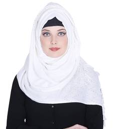 White plain viscose hijab