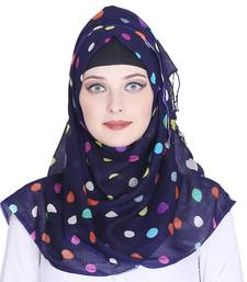 Multicolor printed viscose hijab