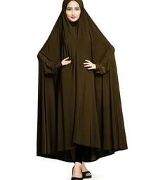 Copper plain lycra burka