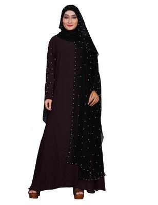 Dark-Violet Plain Lycra Burka