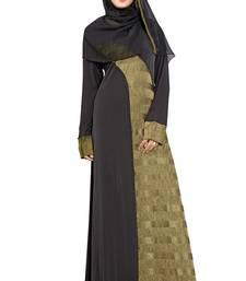 Olive Plain Lycra Burka