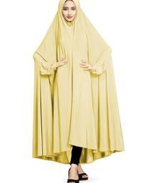 Cream plain lycra burka