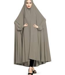 Silver plain lycra burka