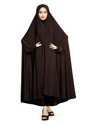 Brown plain lycra burka