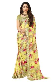 2e59cf4965da Yellow Sarees - Buy Yellow Color Saree online @ Best Prices