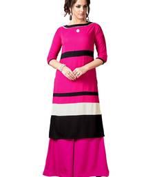 Pink printed rayon kurti