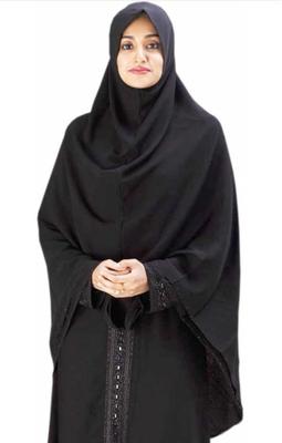 Double Layer Saudi Long Hijab