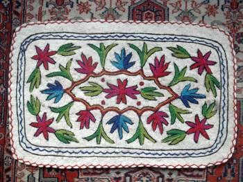 crewal namdha rug embroidered